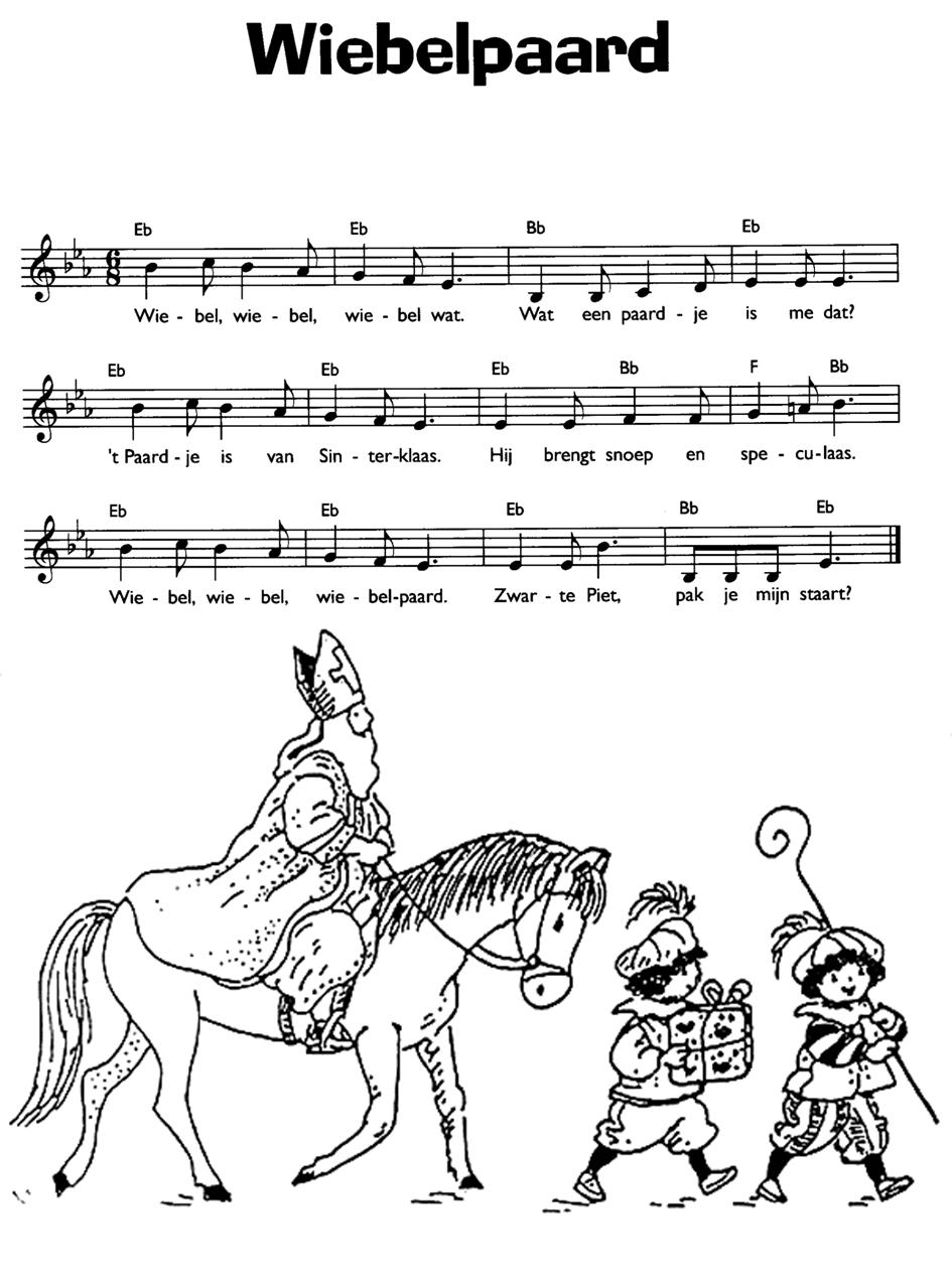 Aadje Piraatje Kleurplaat Liedje Wiebelpaard Sinterklaas Versjes Liedjes