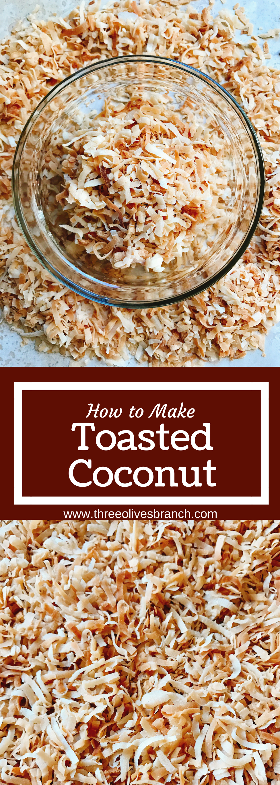 to Toast Coconut Learn how to make toasted coconut in minutes! Perfect for your holiday baking and desserts. Toasting brings out a nuttiness and texture to coconut. Great for Christmas cookies and baking, snacks, breakfasts, and all types of desserts. Make as much as you need! Vegan and vegetarian. Fas