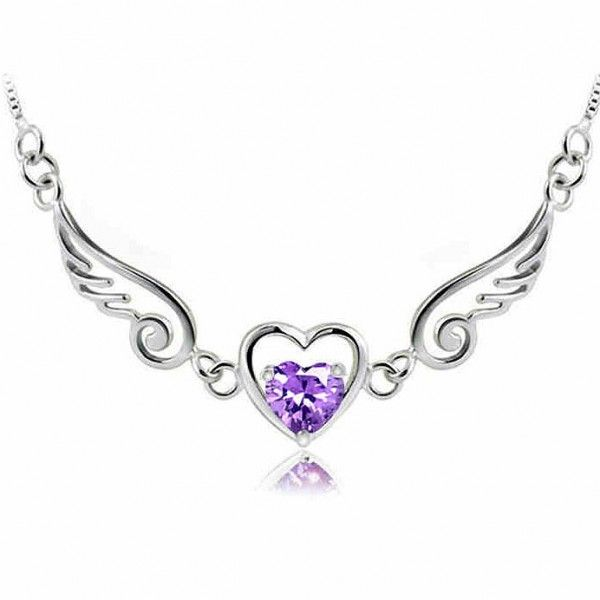 Photo of Cool! Angel Lover Wing Heart Silver Necklace just $28.9 from ByGoods.com! I can'…