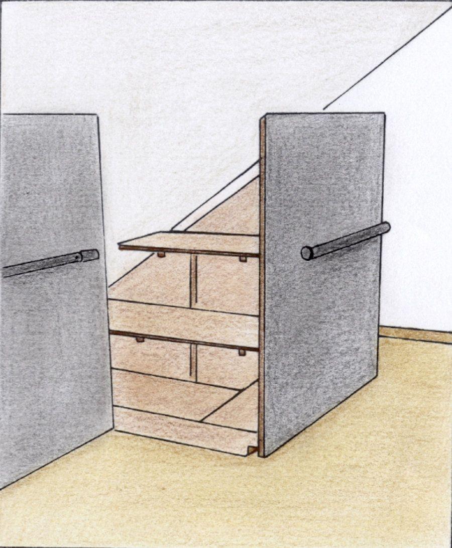 Einbauschrank Selber Bauen Dachschräge: Die Besten 25+ Schrank Dachschräge Ideen Auf Pinterest