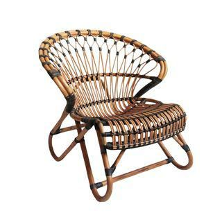 Bamboo Amp Rattan Side Chair With Images Wicker Furniture Cushions Wicker Chair Clear Dining