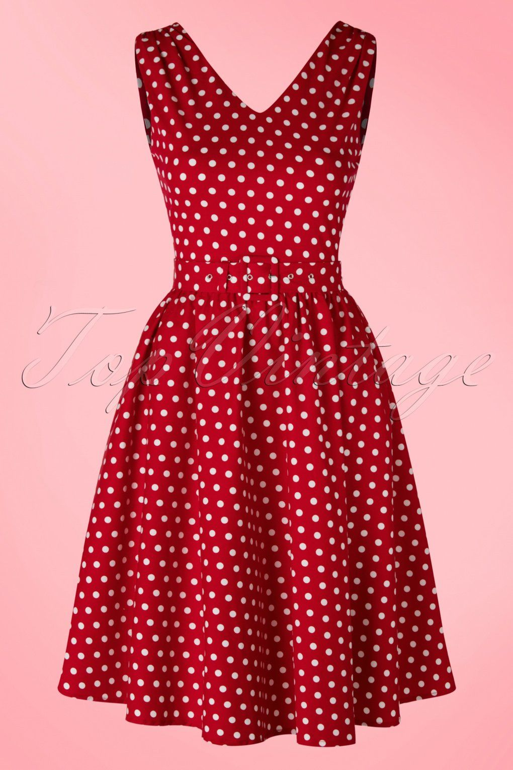 b0615466f2058 This 50s Wendy Polkadot Swing Dress is a must-have for all vintage polkadot  lovers! This classy dress features a beautiful fitted top and runs from the  ...