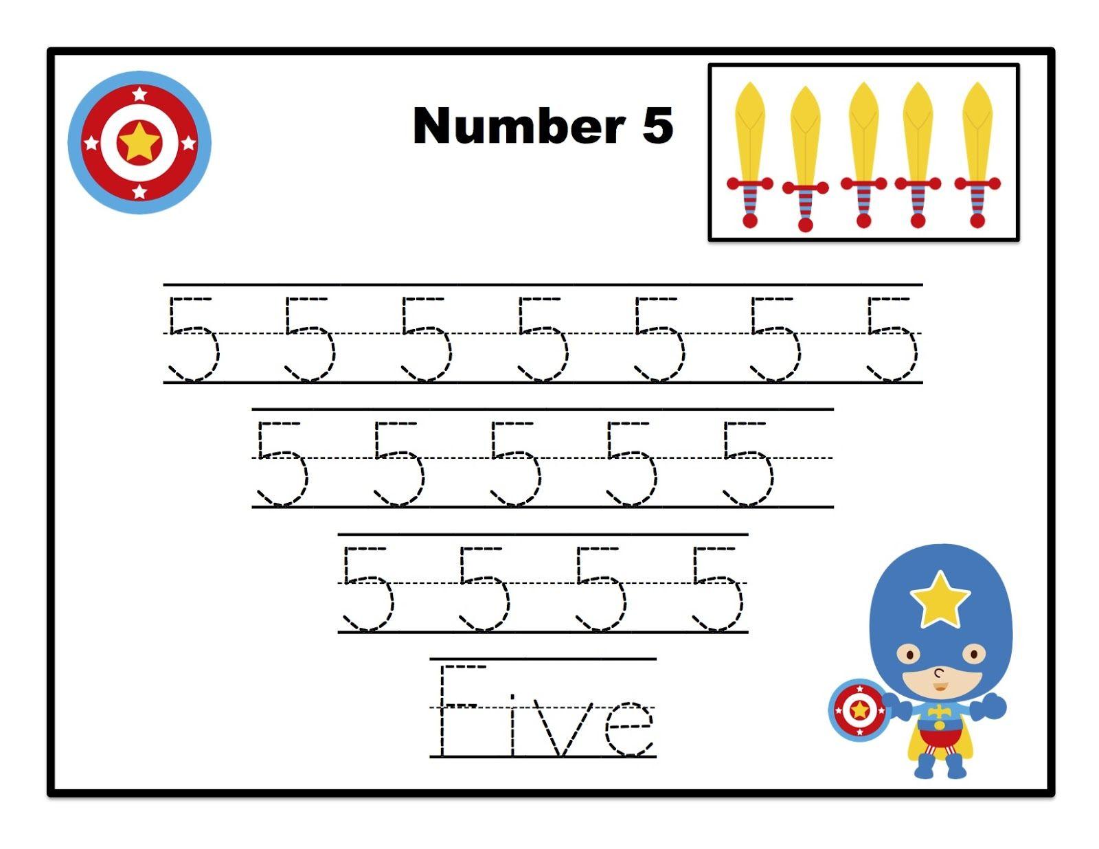 Super Heroes Learn Numbers