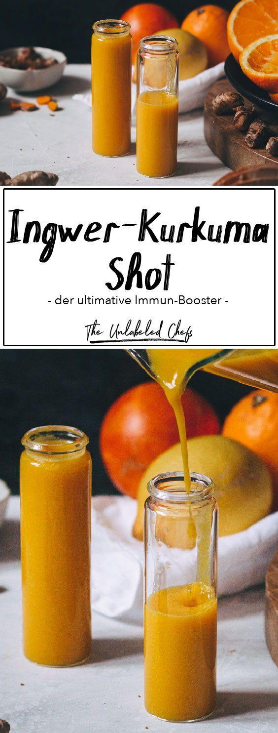 Mit unserem Ingwer-Kurkuma Shot bringst du dein Immunsystem auf das nächste Level.