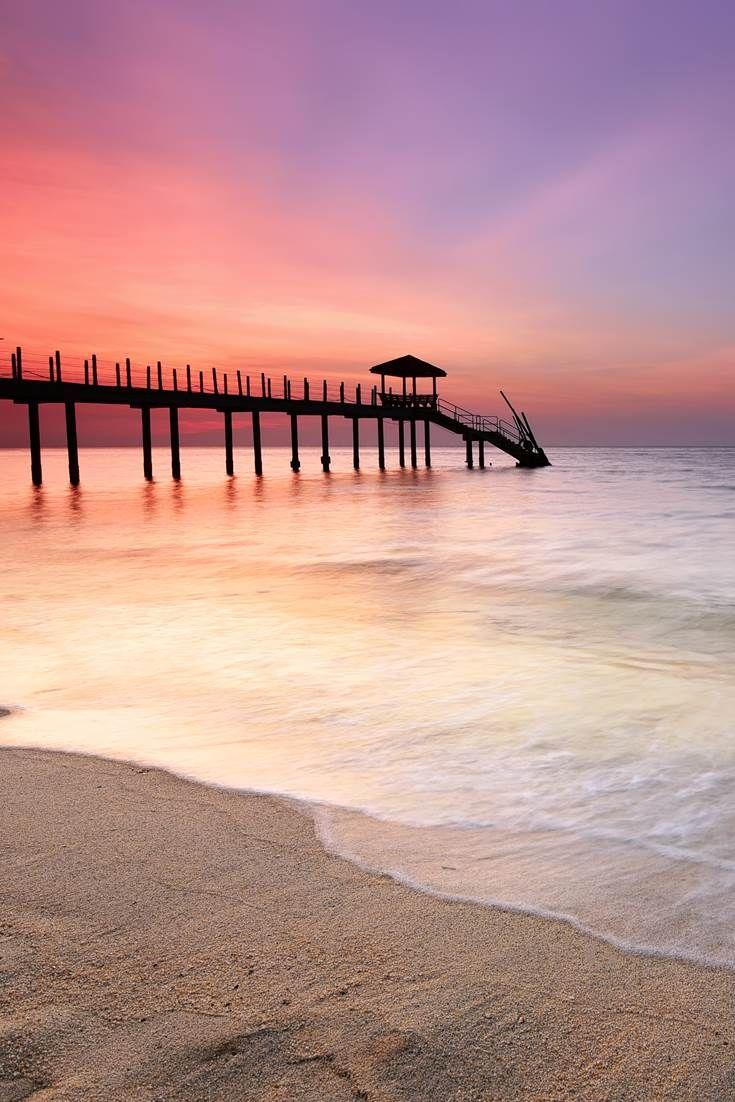 The Beautiful Sunset View At Kerachut Beach Penang In 2019