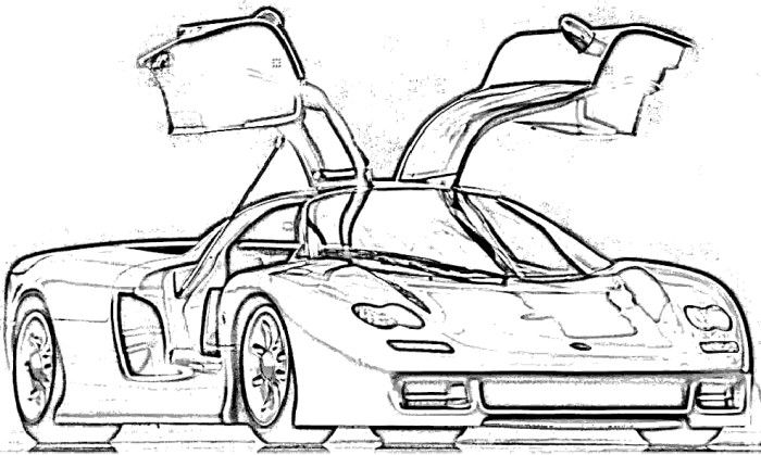 koenigsegg supercars coloring page
