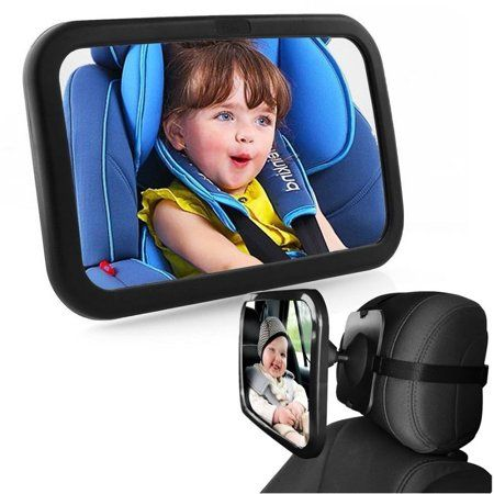 Baby Mirror Back Car Seat Cover for Infant Child Toddler Rear View Ward Safety