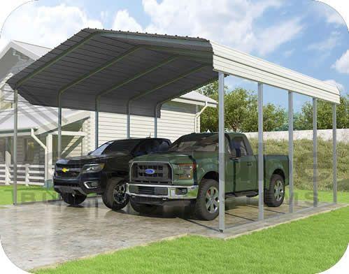 Versatube 20x20x10 Classic Steel Carport Kit Cm020200100 Steel Carports Steel Roof Panels Carport Kits