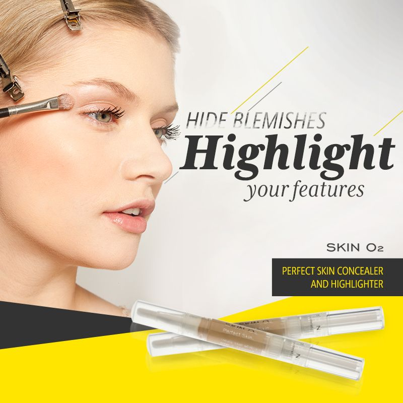 Beautiful Create More Youthful Volume With Skin O2u0027s Perfect Skin Concealer And  Highlighter.Create Model Cheekbones