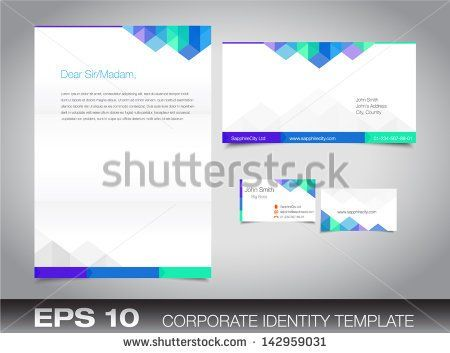 Corporate Identity Set Or Kit For Your Business Including Business