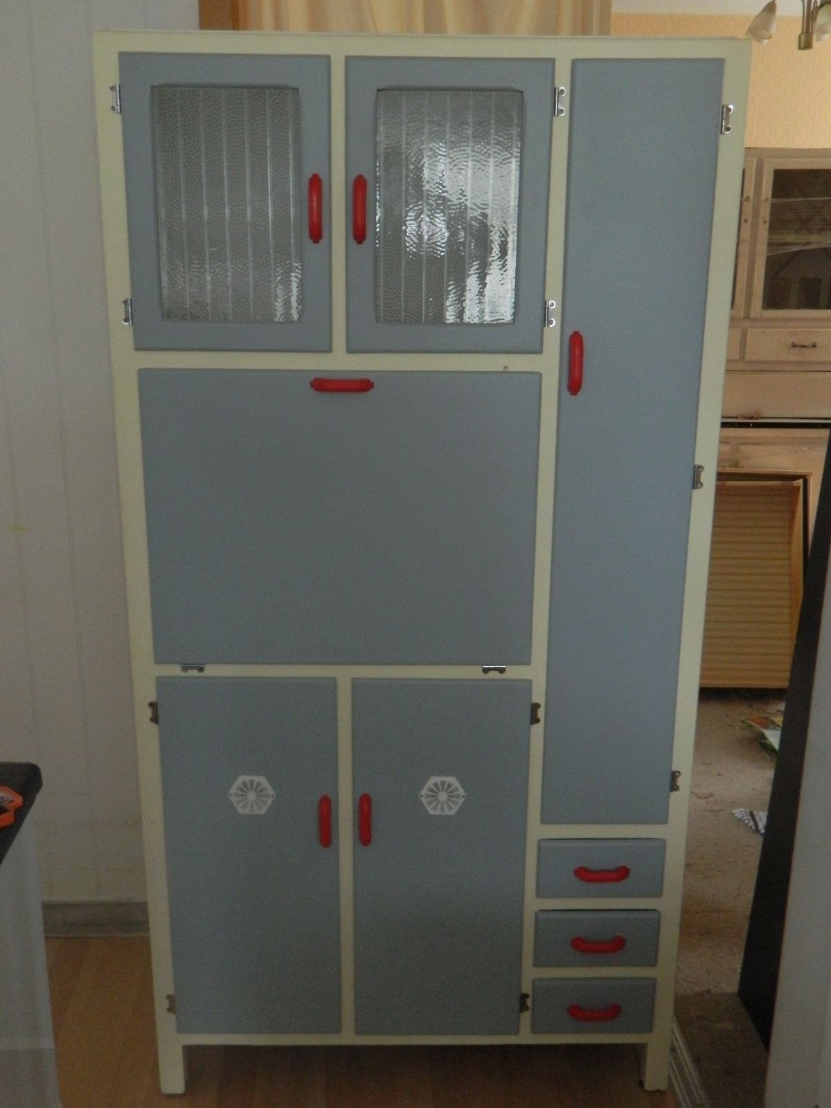 Retro 1950 S Kitchen Larder Pantry Cupboard Refurbished Pantry Cupboard Vintage Cupboard Kitchen Larder