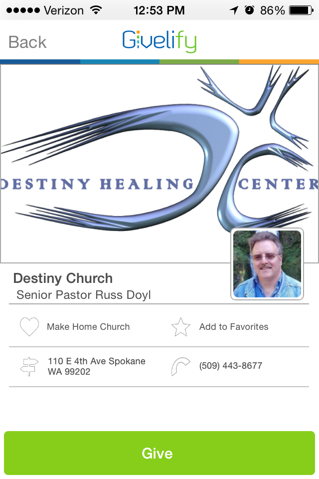 Destiny Church in Spokane, Washington #GivelifyChurches