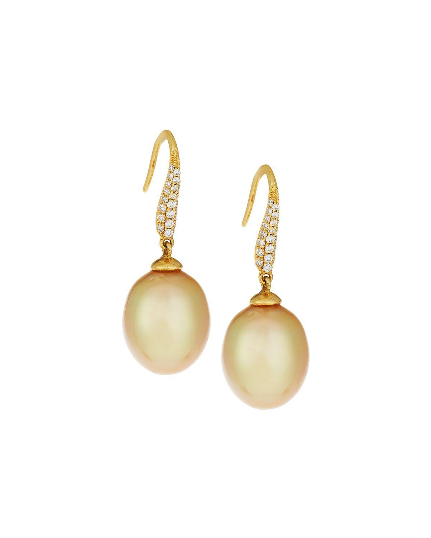 Belpearl 18k Diamond & White South Sea Pearl Earrings p8YUHNSvCl
