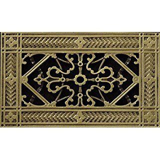 Decorative Grille Vent Cover Or Return Register Made Of Urethane Resin To Fit Over A 4 X8 Duct Or Open Decorative Grilles Vent Covers Decorative Vent Cover