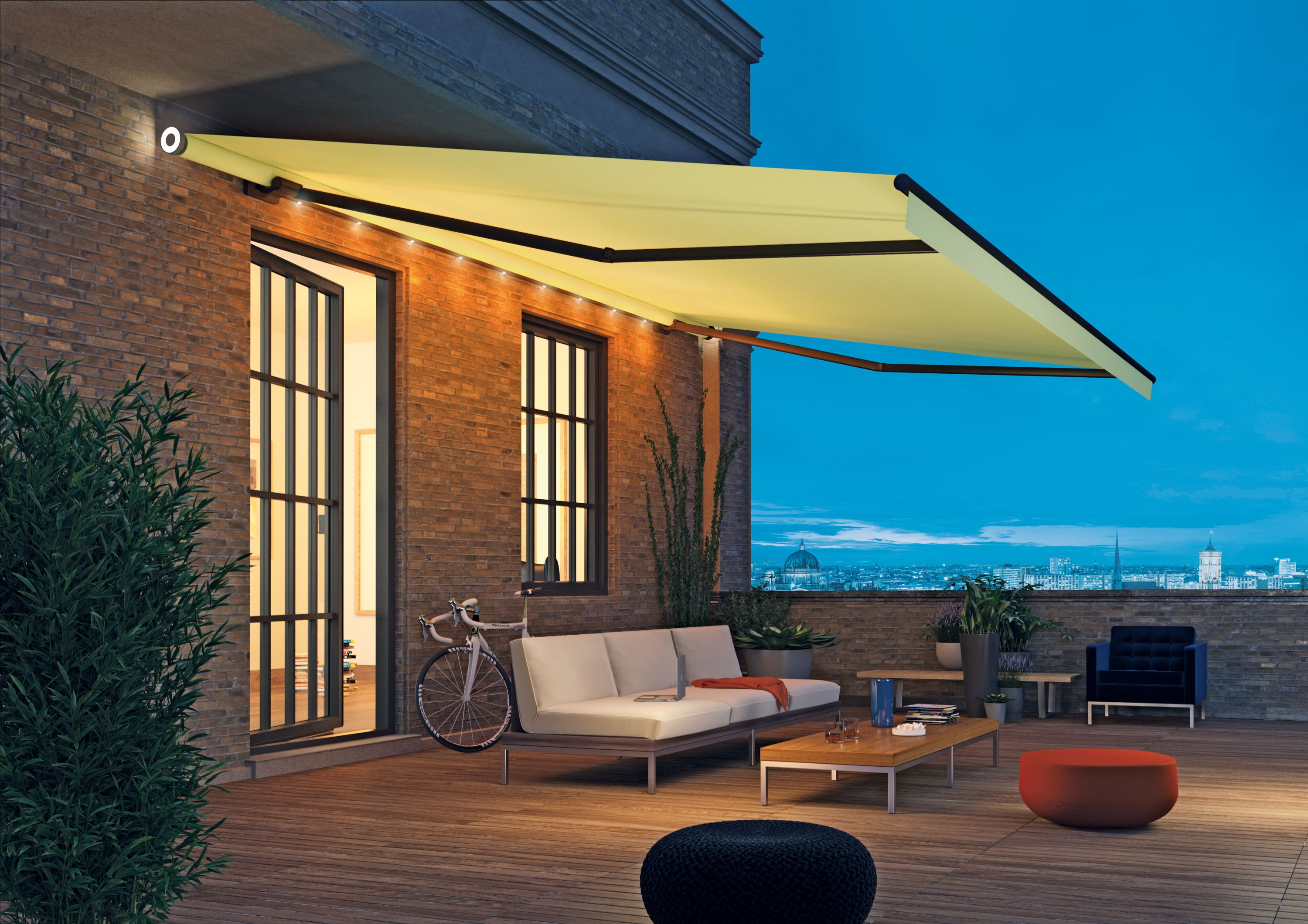 Wonderful side lit awning from Weiner | Patio awning ...