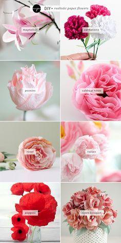 DIY: flores de papel realistas | Mi Paradissi
