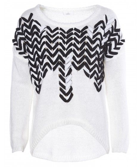Beautiful Black | Sweater Bonny Ivory Black and White | Beautiful ...