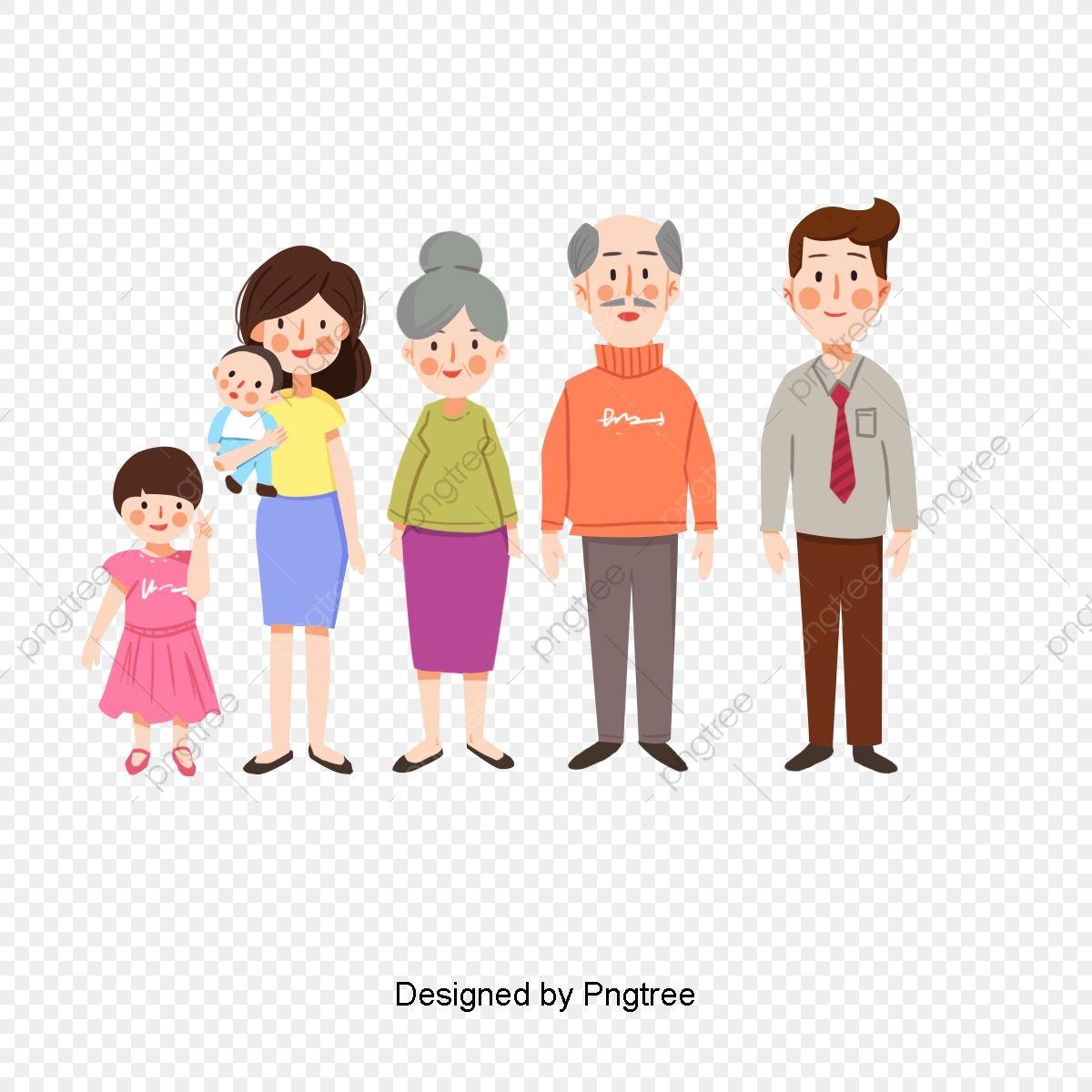 كرتون مرسومة باليد صورة العائلة عائلة الأطفال السعادة Png وملف Psd للتحميل مجانا Lily Maymac Pictures Cartoon