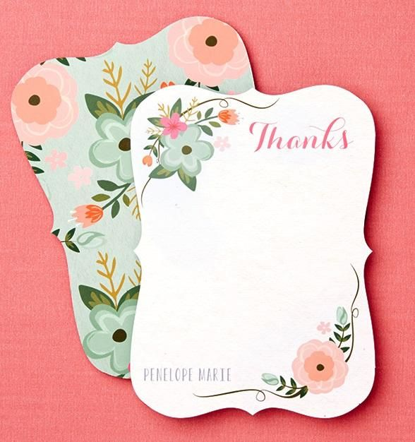 Embellishments Make These Thank You Cards Stand Out