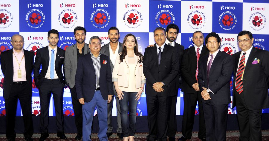 Football gets a glamorous kick start as Bollywood stars attend the Indian Super League launch event.