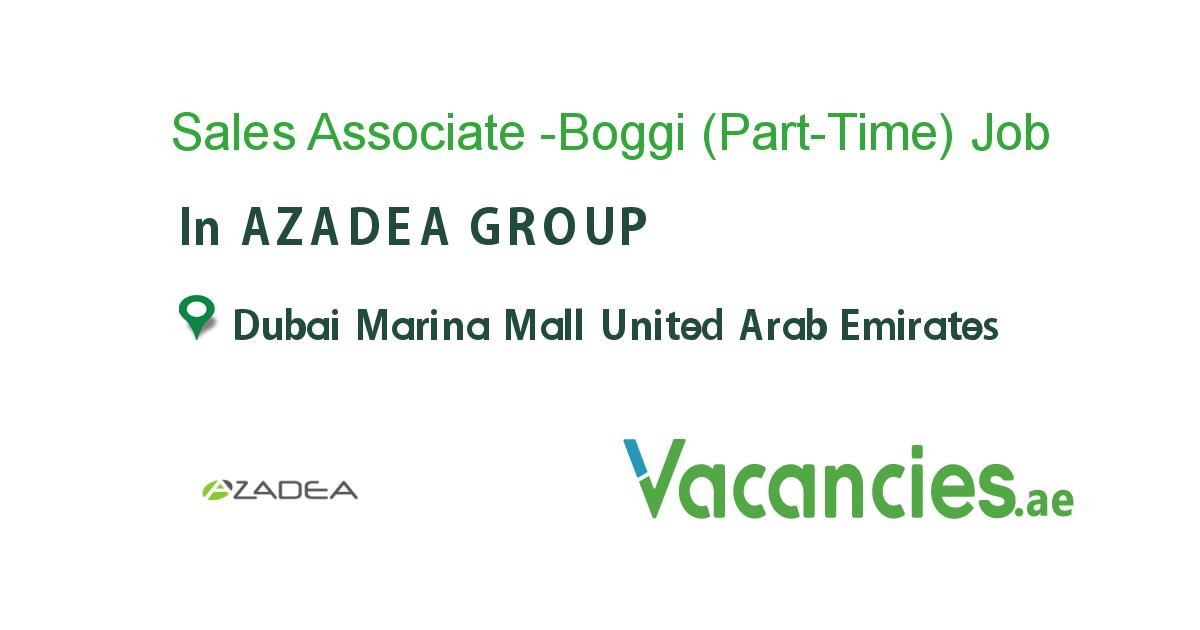 Sales Associate Boggi Part Time Job Business Development