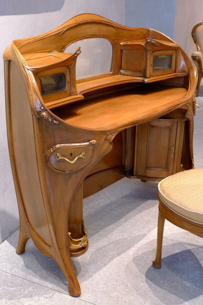 mobilier art nouveau hector guimard 1909 1912 provenant de la chambre de l hotel guimard paris 122 avenue mozart musee des beaux arts de lyon