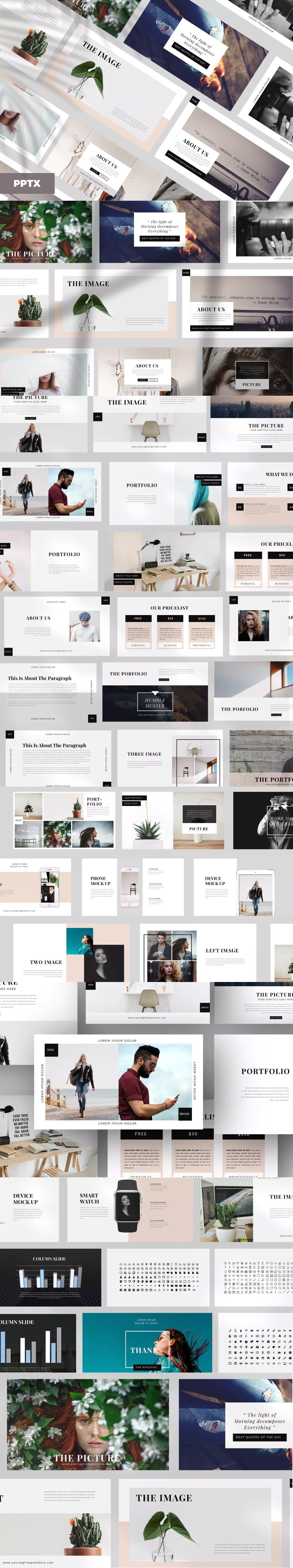 elegant powerpoint presentation template 50 unique slide