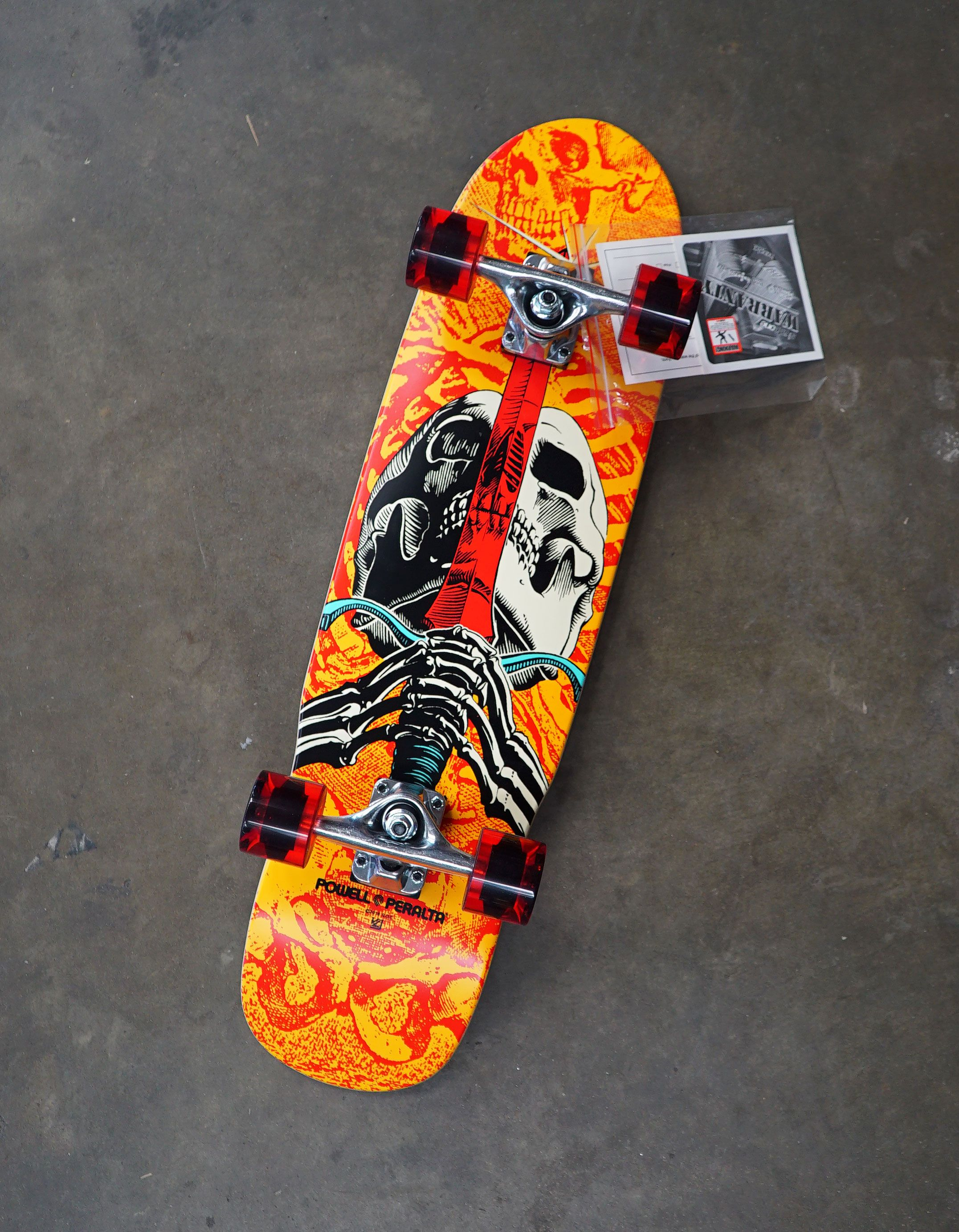 Powell Peralta Mini Skull And Sword Complete Skateboard 8 X 30 Complete Skateboards Skateboard Classic Skateboard