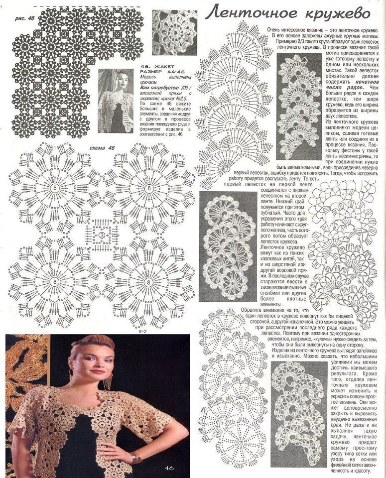 Patrones Crochet: Patron Crochet Bolero con manga Calado | puntos ...