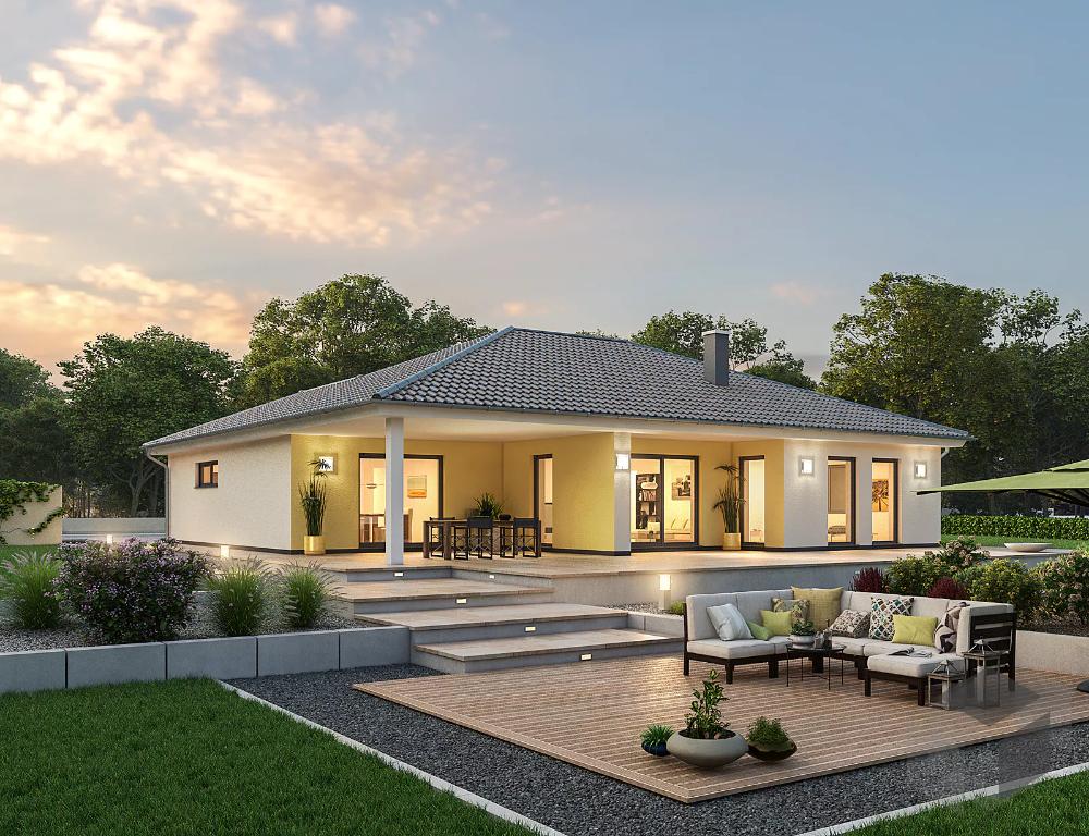 Massivbungalow Haus Bungalow Haus Ideen Aussen Haus Architektur