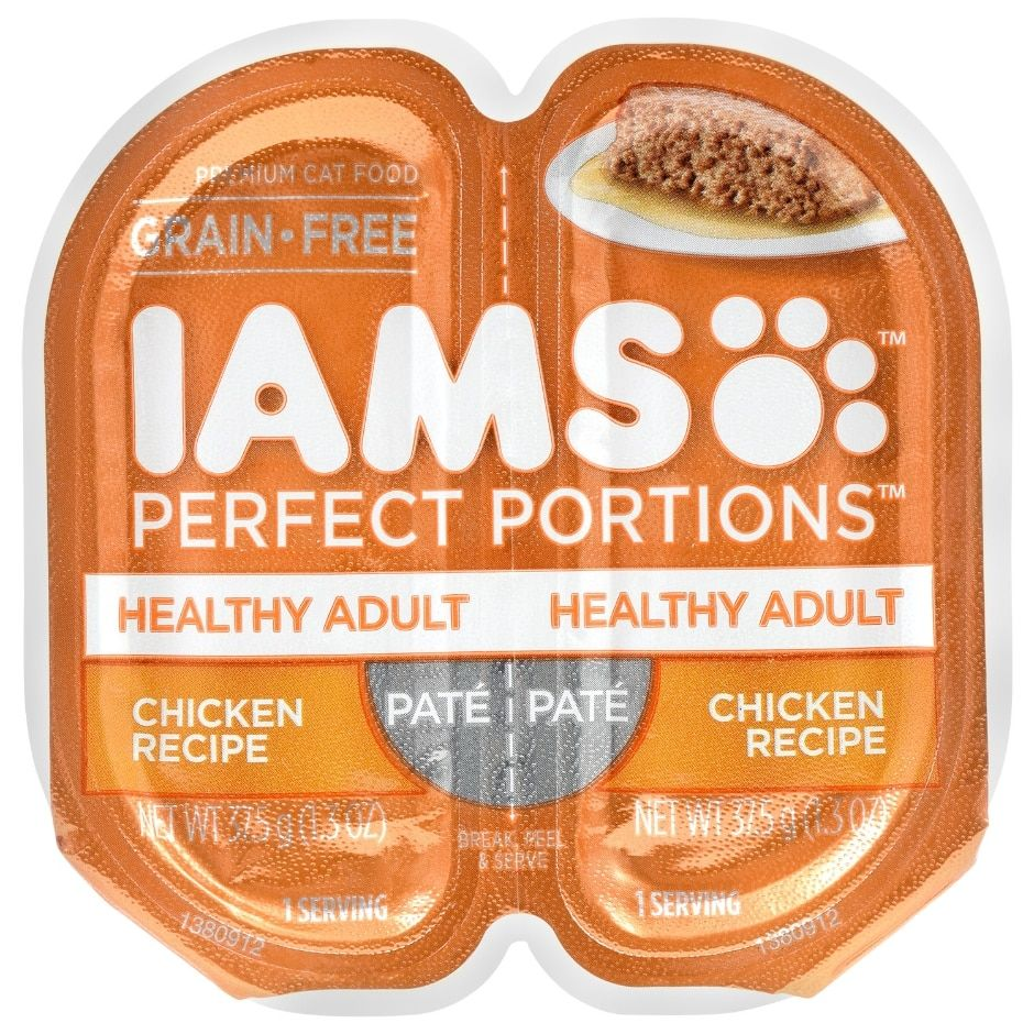 Iams Perfect Portions Chicken Recipe Cat Food, 2ct. Packs