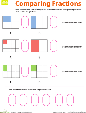 Fraction Practice Comparing Fractions Comparing