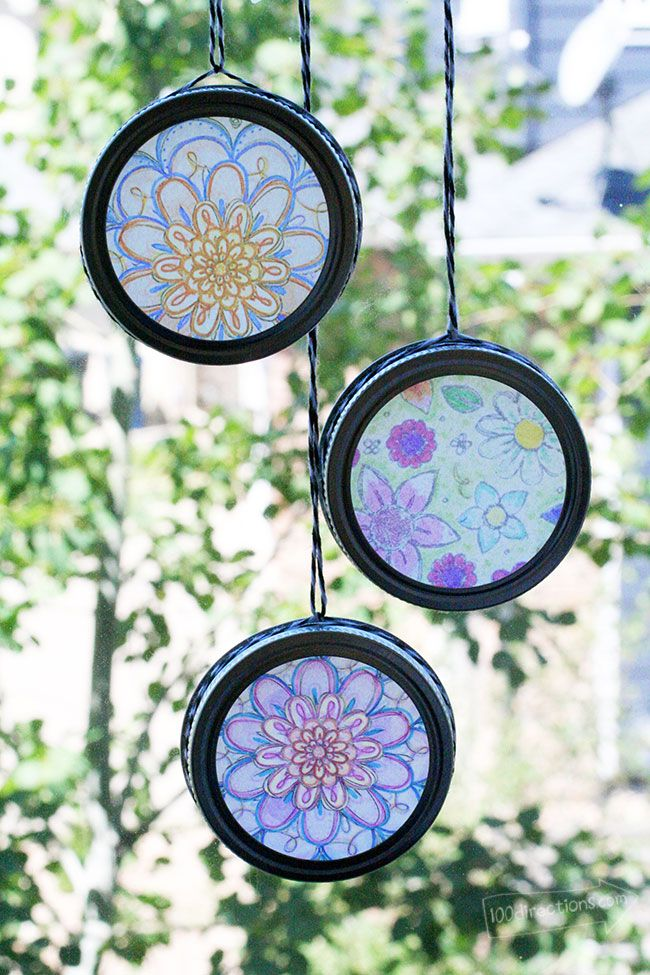 Easy Sun Catchers with Coloring Pages Craft projects for