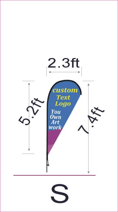 What Is The Teardrop Flag Size In 2020 Teardrop Banner Banner Sizes Custom