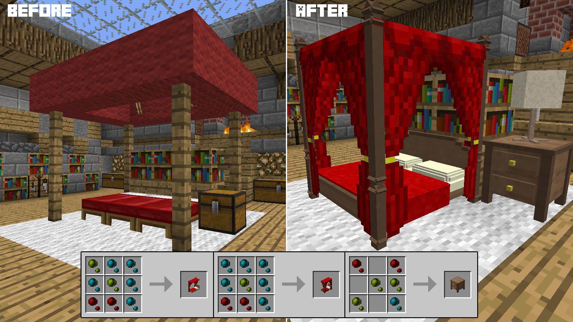 Decocraft Minecraft Bedroom Minecraft Room Minecraft Mods