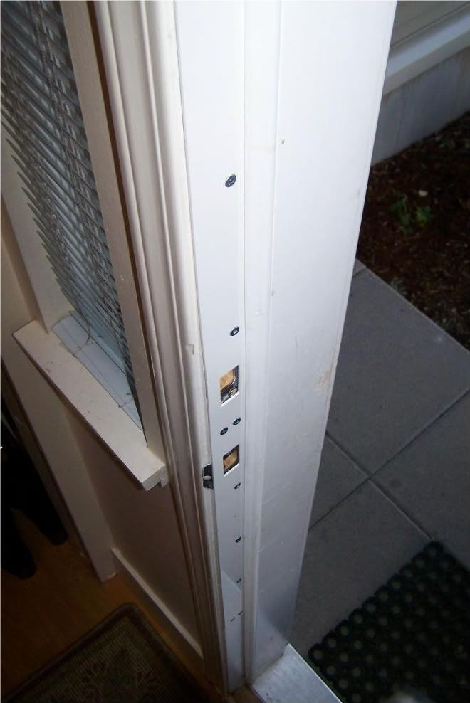 reinforced door frame with steel product seen here is called rebar door security device