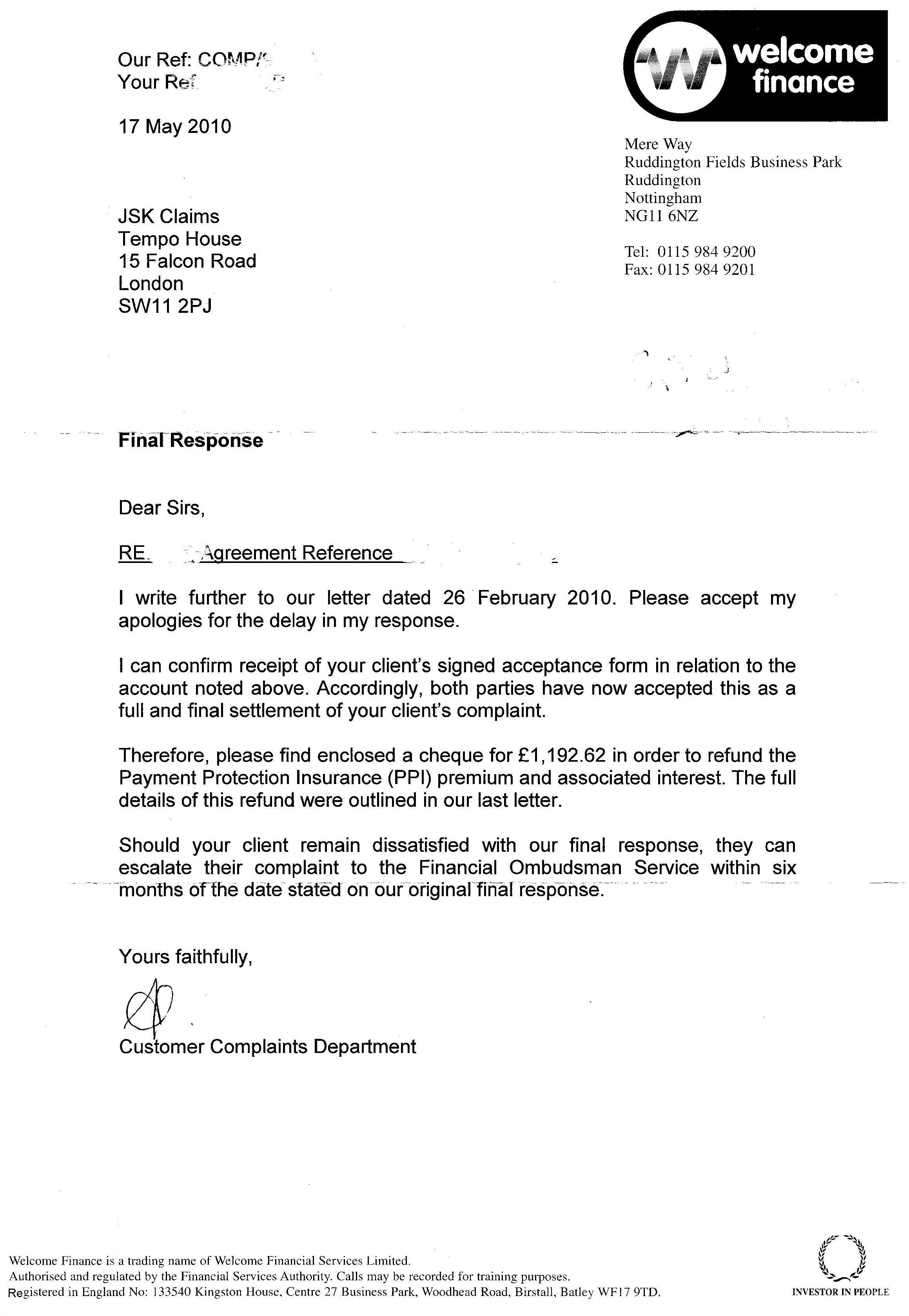 Ppi Claim Letter Template Back Thousands For Unfair Payment Mse