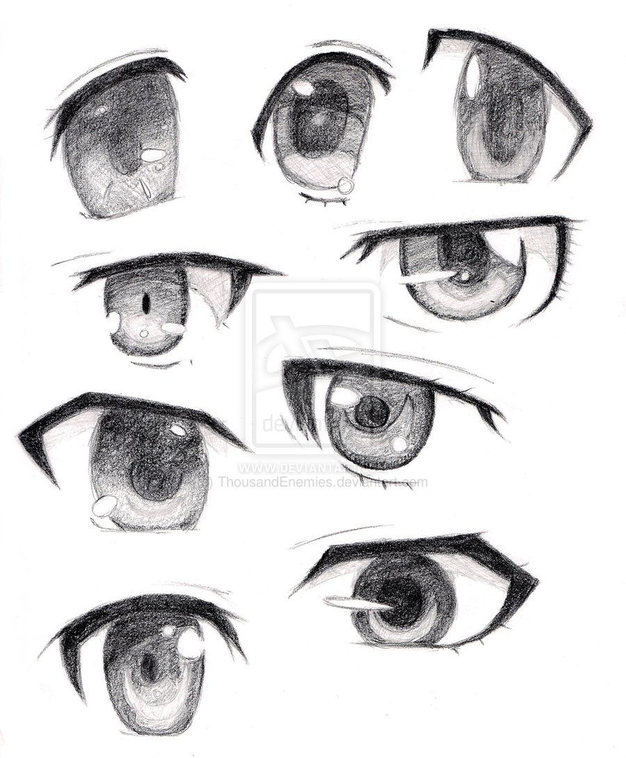 Anime eyes male females anime eyes by thousandenemies fan art manga anime traditional
