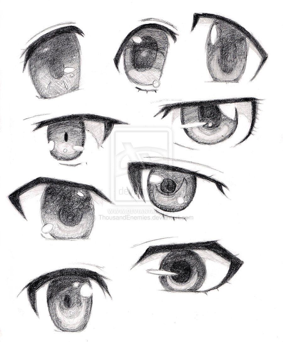 Boy Anime Eyes : anime, Anime