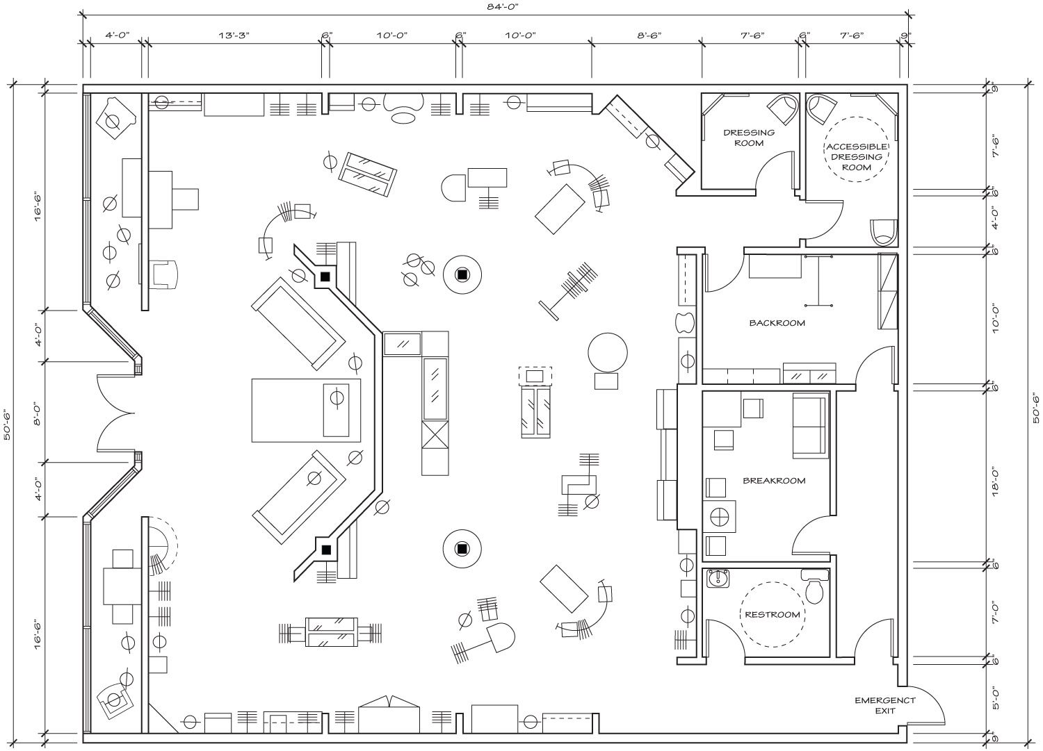 Retail Store Layout Floor Plan Store plan, Retail store