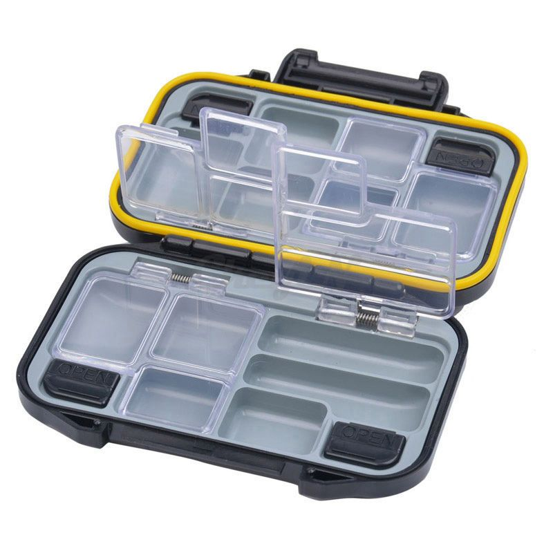 Compartment Waterproof Plastic Fishing Lure Bait Hook Tackle Box Case Storage DB