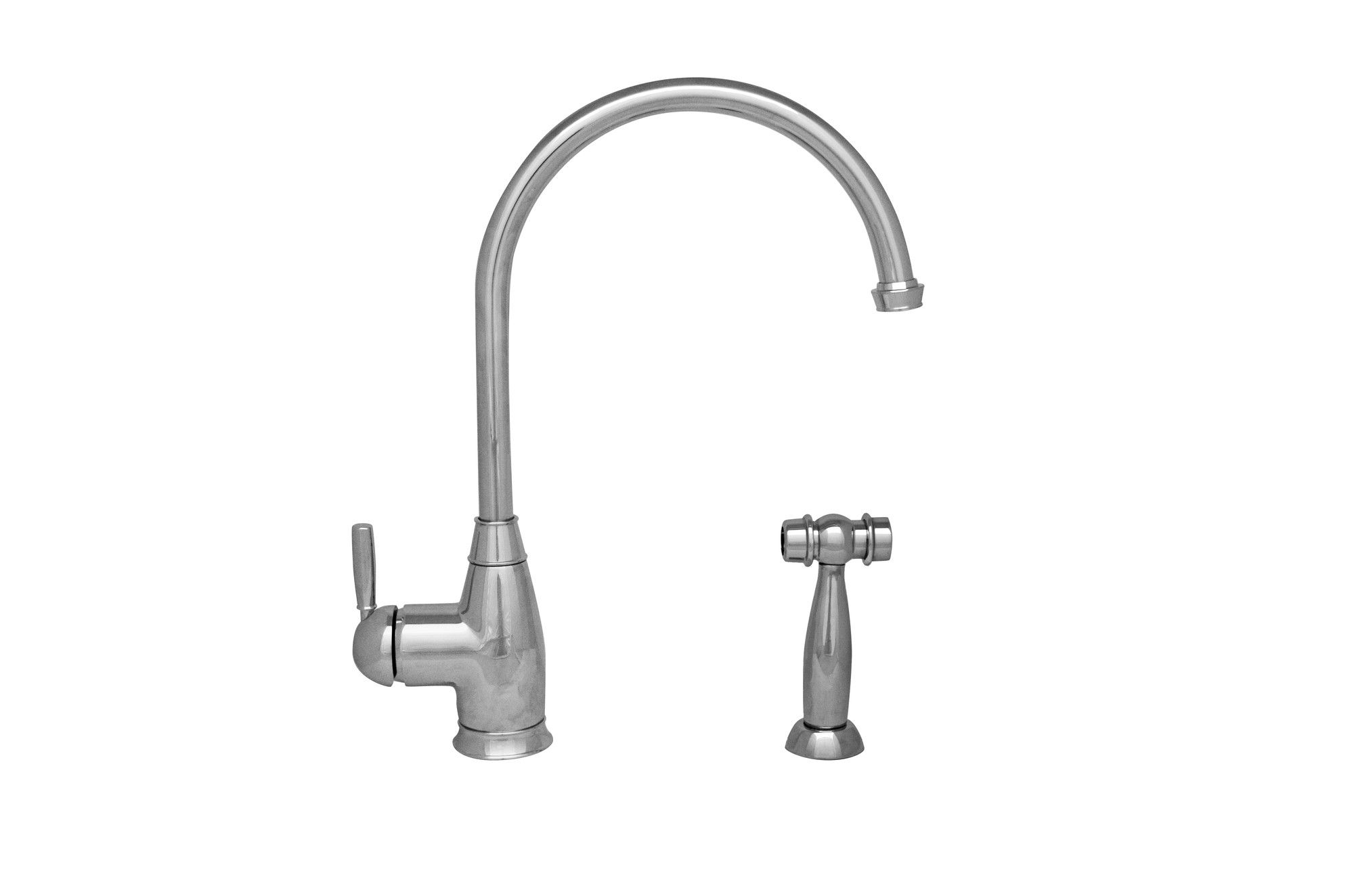 Queenhaus Single Handle Deck Mounted Standard Kitchen Faucet with Side Spray