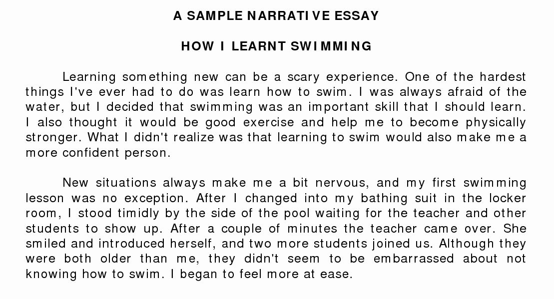 Sample Of Narrative Essay In 2020 With Images Short Essay Examples Essay Writing Examples Essay Examples