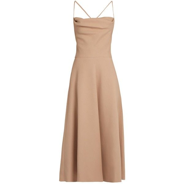 Valentino Wool and silk-blend crepe midi dress ($2,660) | d r e s s ...