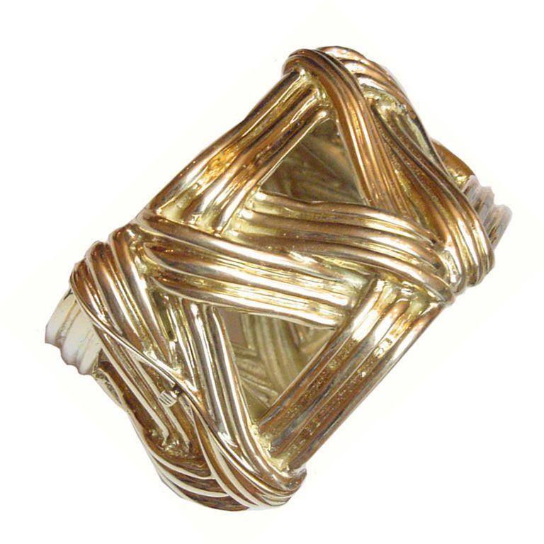Wide Cuff 18K Gold