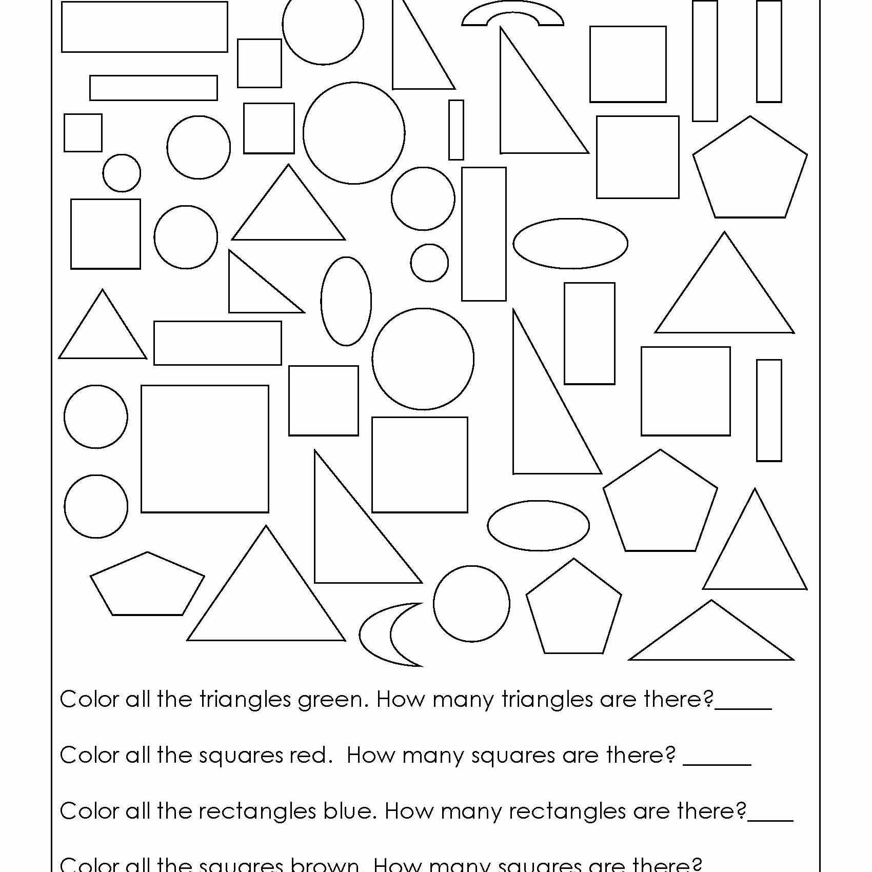 2 Easy Printable Color by Addition Worksheet Geometry Worksheets for  Students in 1st Grade   Geometry worksheets [ 1700 x 1700 Pixel ]