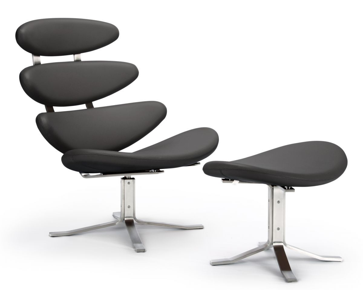 The corona chair ottoman originally designed by poul volther features a 304 grade stainless - Corona chair replica ...
