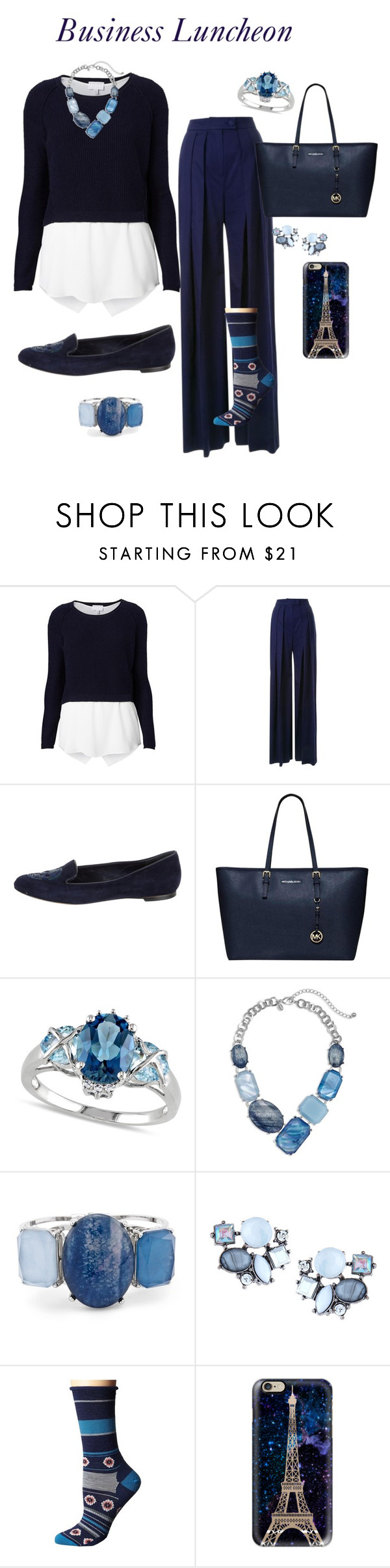"""""""Business Luncheon"""" by sommer-reign ❤ liked on Polyvore featuring Witchery, Martin Grant, Alexander McQueen, Allurez, Chico's, Lydell NYC, Smartwool and Casetify"""
