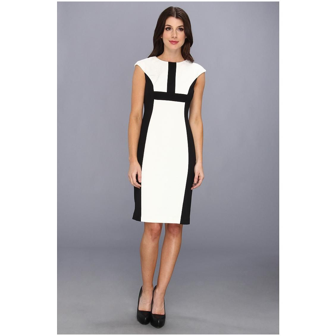 ca2f274da2a Maggy London Women s Cap Sleeve Jacquard Colorblock Dress ...