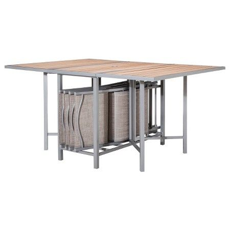 Bryant 5 Piece Sling Stowable Folding Patio Dining Furniture Set Threshold Target